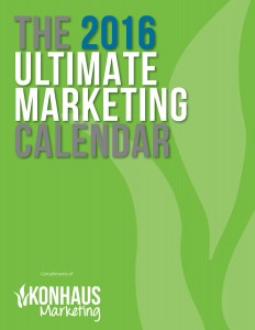 Konhaus Ultimate Marketing Calendar 2016 Front Cover