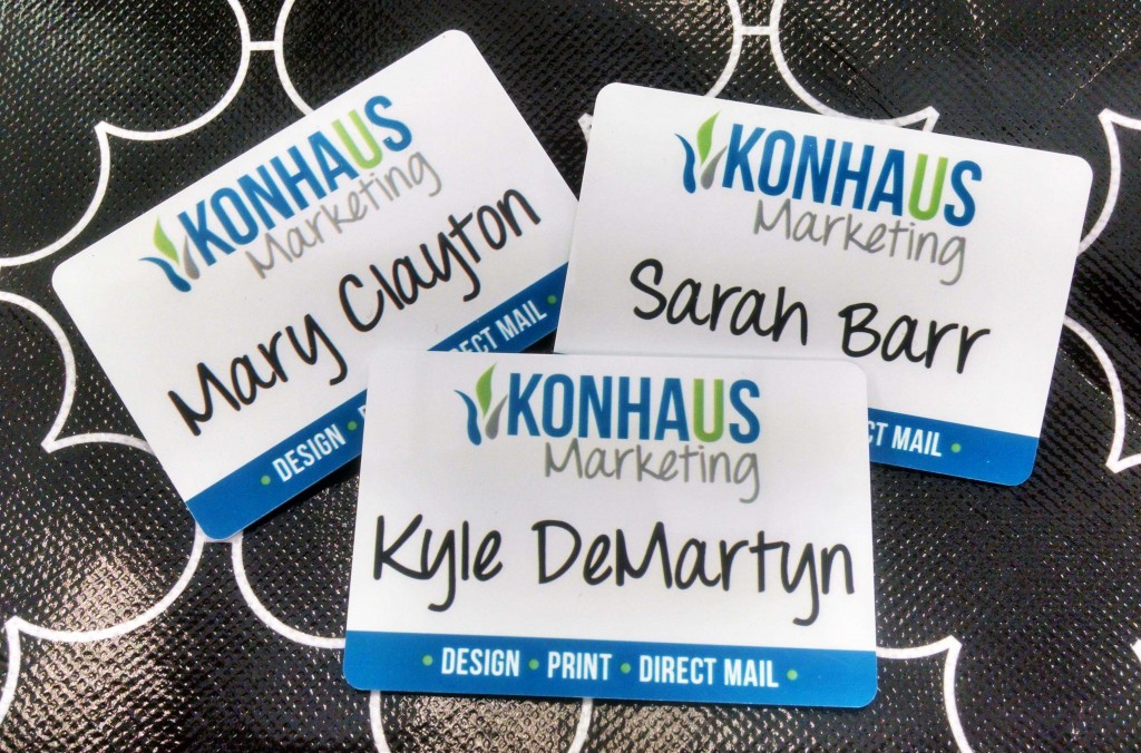how to make your nametag pop at networking events konhaus