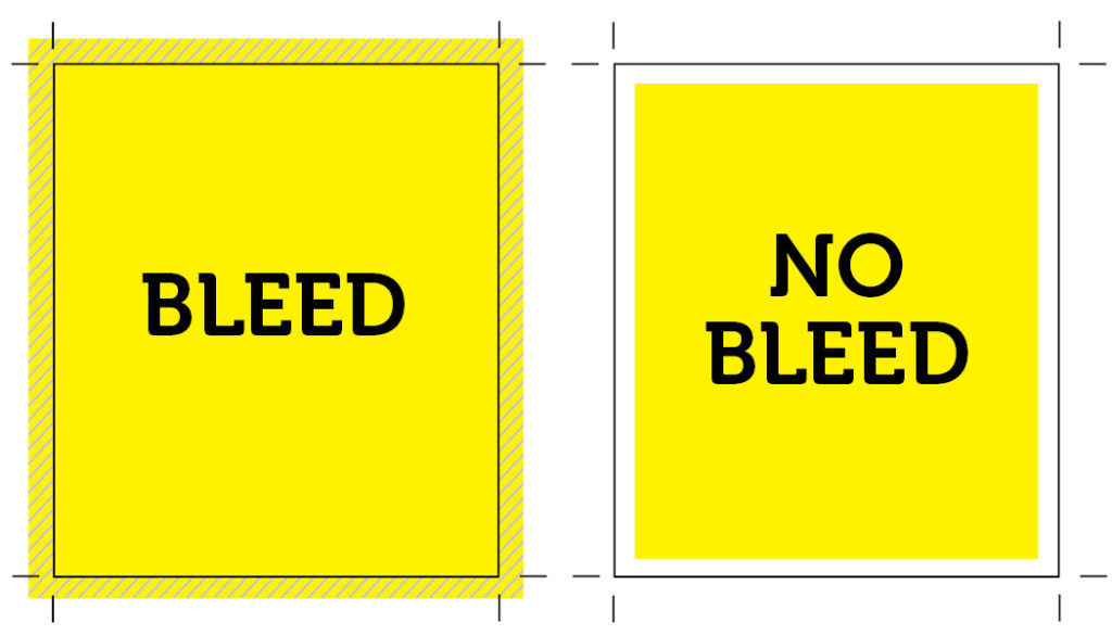 Bleed vs. No Bleed