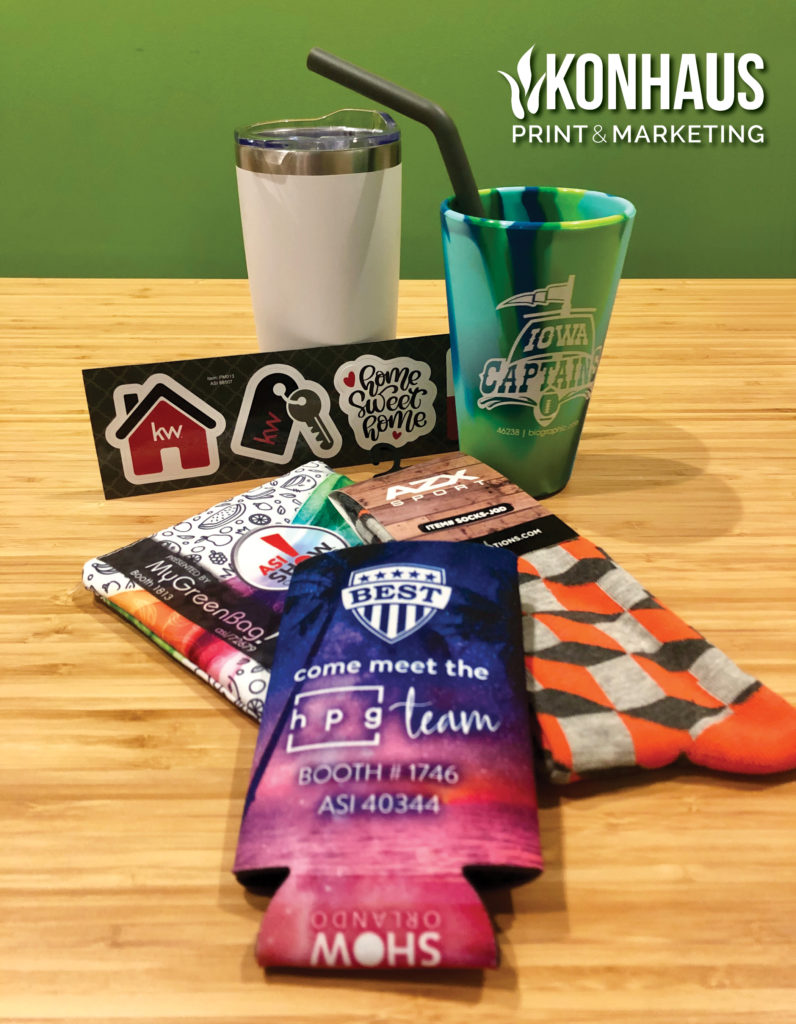 Promotion product options from Konhaus Print & Marketing
