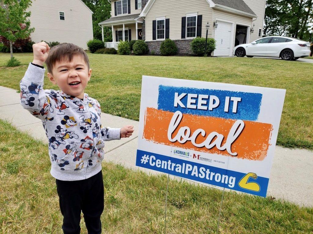 Keep It Local yard sign